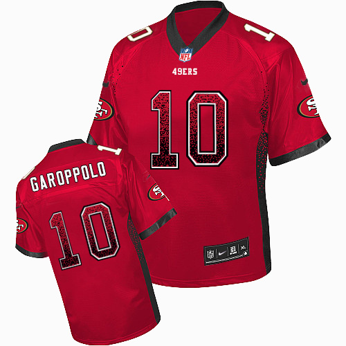 Nike 49ers #10 Jimmy Garoppolo Red Team Color Men's Stitched NFL Elite Drift Fashion Jersey