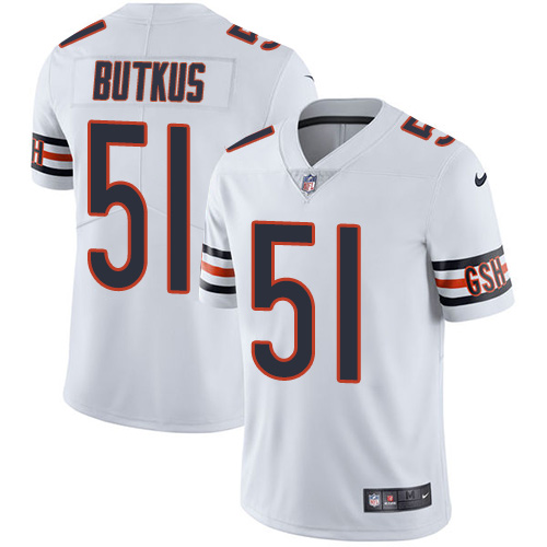 Nike Bears #51 Dick Butkus White Men's Stitched NFL Vapor Untouchable Limited Jersey