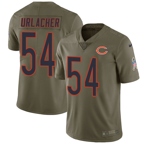 Nike Bears #54 Brian Urlacher Olive Men's Stitched NFL Limited Salute To Service Jersey