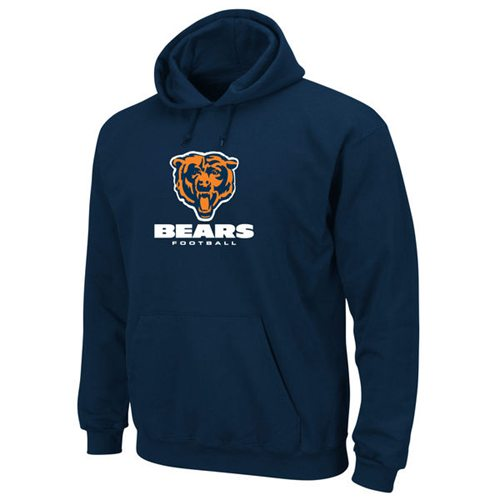 Chicago Bears Critical Victory Pullover Hoodie Navy Blue