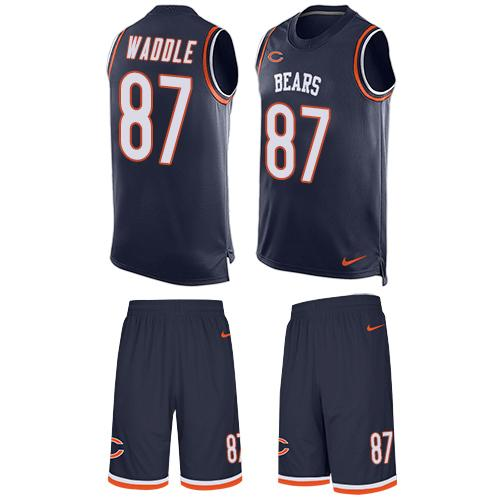 Nike Bears #87 Tom Waddle Navy Blue Team Color Men's Stitched NFL Limited Tank Top Suit Jersey