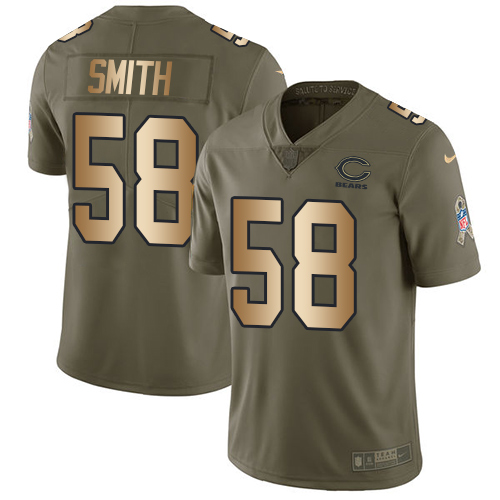 Nike Bears #58 Roquan Smith Olive/Gold Men's Stitched NFL Limited Salute To Service Jersey