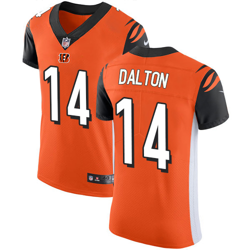 Nike Bengals #14 Andy Dalton Orange Alternate Men's Stitched NFL Vapor Untouchable Elite Jersey