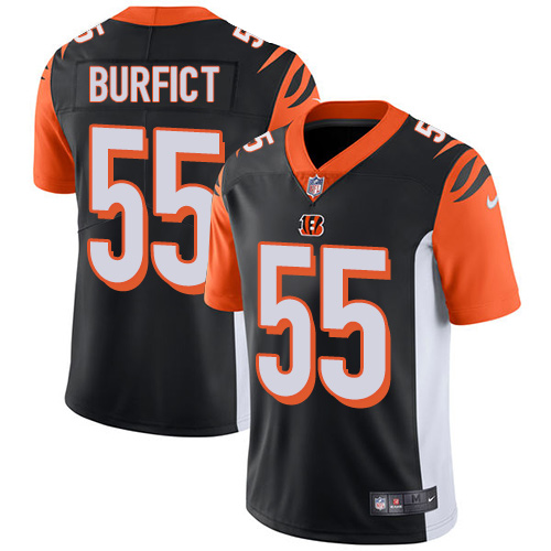 Nike Bengals #55 Vontaze Burfict Black Team Color Men's Stitched NFL Vapor Untouchable Limited Jersey