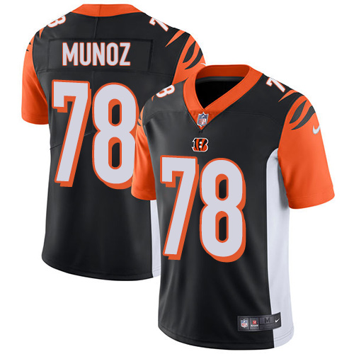 Nike Bengals #78 Anthony Munoz Black Team Color Men's Stitched NFL Vapor Untouchable Limited Jersey