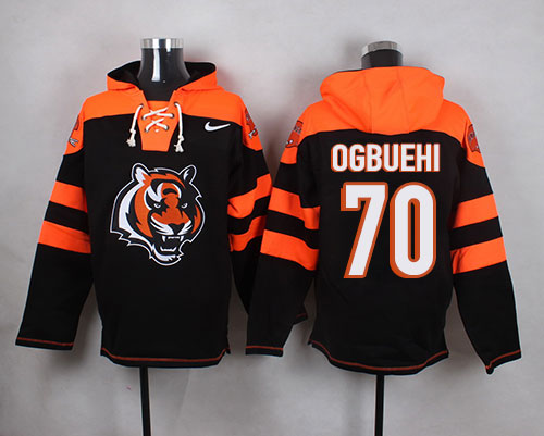 Nike Bengals #70 Cedric Ogbuehi Black Player Pullover NFL Hoodie