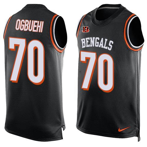 Nike Bengals #70 Cedric Ogbuehi Black Team Color Men's Stitched NFL Limited Tank Top Jersey