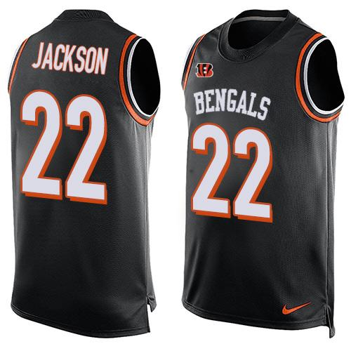 Nike Bengals #22 William Jackson Black Team Color Men's Stitched NFL Limited Tank Top Jersey