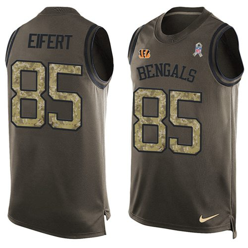 Nike Bengals #85 Tyler Eifert Green Men's Stitched NFL Limited Salute To Service Tank Top Jersey