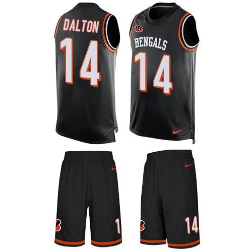 Nike Bengals #14 Andy Dalton Black Team Color Men's Stitched NFL Limited Tank Top Suit Jersey