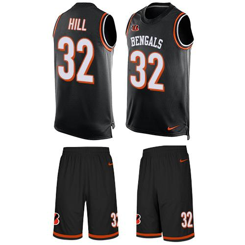 Nike Bengals #32 Jeremy Hill Black Team Color Men's Stitched NFL Limited Tank Top Suit Jersey