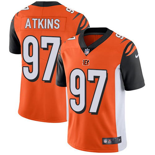 Nike Bengals #97 Geno Atkins Orange Alternate Men's Stitched NFL Vapor Untouchable Limited Jersey
