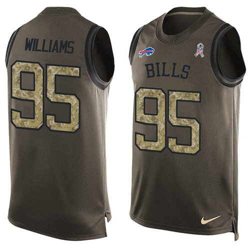 Nike Bills #95 Kyle Williams Green Men's Stitched NFL Limited Salute To Service Tank Top Jersey