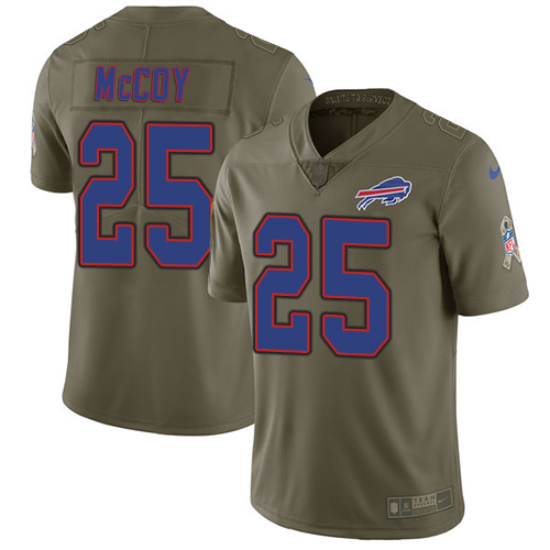 Nike Bills #25 LeSean McCoy Olive Men's Stitched NFL Limited Salute To Service Jersey