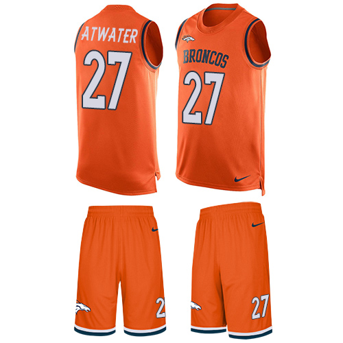 Nike Broncos #27 Steve Atwater Orange Team Color Men's Stitched NFL Limited Tank Top Suit Jersey