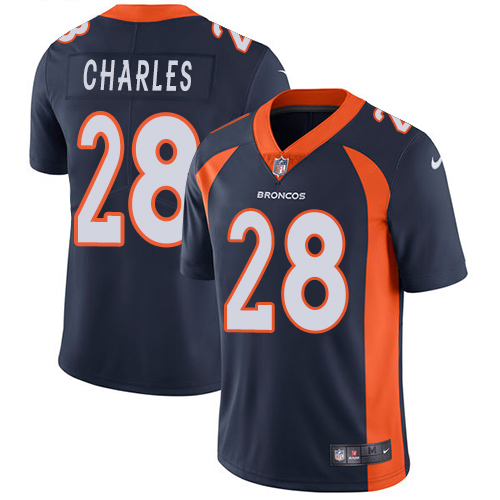Nike Broncos #28 Jamaal Charles Navy Blue Alternate Men's Stitched NFL Vapor Untouchable Limited Jersey