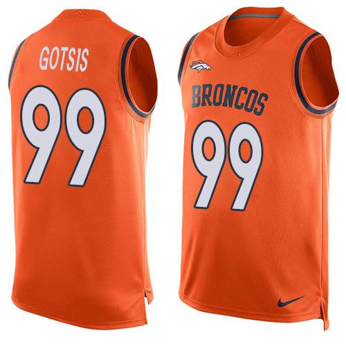Nike Broncos #99 Adam Gotsis Orange Team Color Men's Stitched NFL Limited Tank Top Jersey