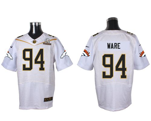 Nike Broncos #94 DeMarcus Ware White 2016 Pro Bowl Men's Stitched NFL Elite Jersey
