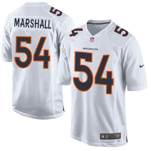 Nike Broncos #54 Brandon Marshall White Men's Stitched NFL Game Event Jersey