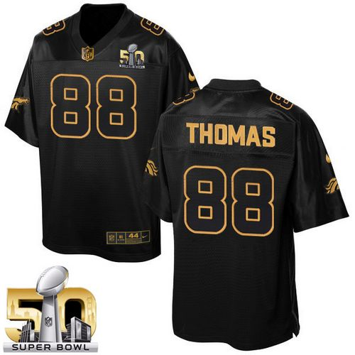 Nike Broncos #88 Demaryius Thomas Black Super Bowl 50 Men's Stitched NFL Elite Pro Line Gold Collection Jersey