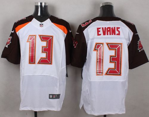 Nike Buccaneers #13 Mike Evans White Men's Stitched NFL New Elite Jersey