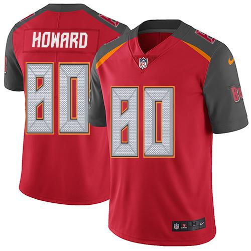 Nike Buccaneers #80 O. J. Howard Red Team Color Men's Stitched NFL Vapor Untouchable Limited Jersey