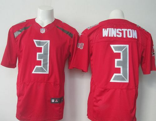 Nike Buccaneers #3 Jameis Winston Red Men's Stitched NFL Elite Rush Jersey