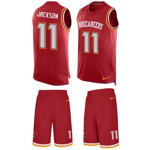 Nike Buccaneers #11 DeSean Jackson Red Team Color Men's Stitched NFL Limited Tank Top Suit Jersey