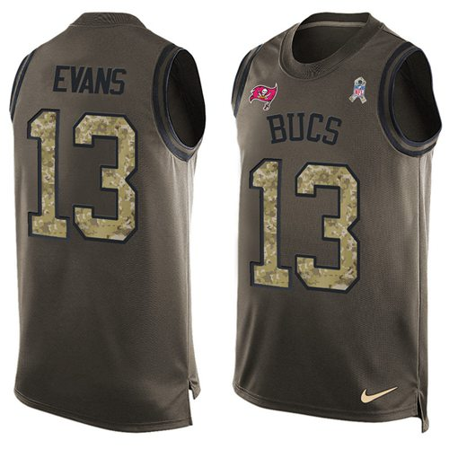 Nike Buccaneers #13 Mike Evans Green Men's Stitched NFL Limited Salute To Service Tank Top Jersey