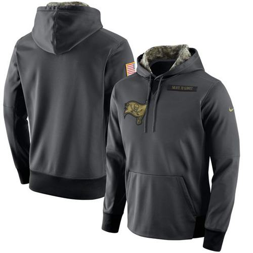 Men's Tampa Bay Buccaneers Nike Anthracite Salute to Service Player Performance Hoodie