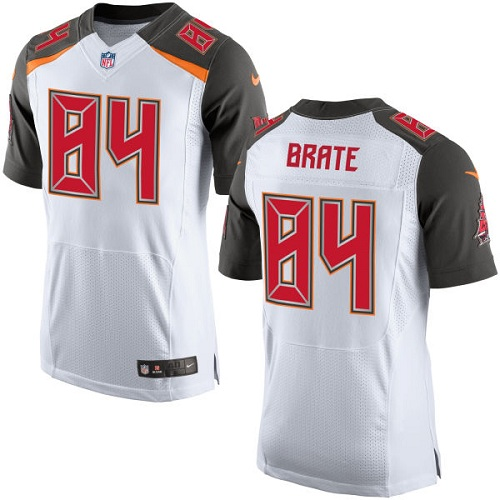 Nike Buccaneers #84 Cameron Brate White Men's Stitched NFL New Elite Jersey