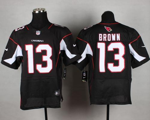 Nike Cardinals #13 Jaron Brown Black Alternate Men's Stitched NFL Vapor Untouchable Elite Jersey