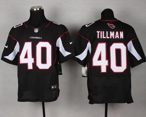 Nike Cardinals #40 Pat Tillman Black Alternate Men's Stitched NFL Vapor Untouchable Elite Jersey