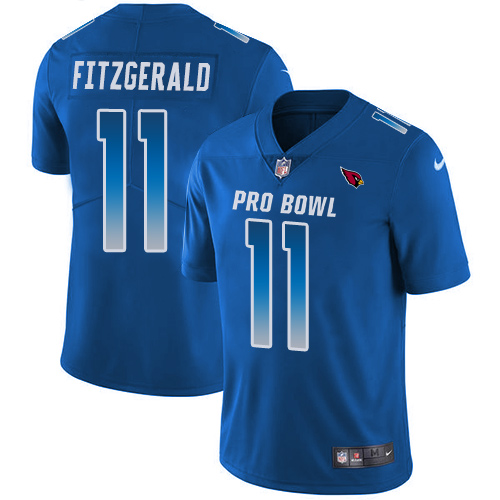 Nike Cardinals #11 Larry Fitzgerald Royal Men's Stitched NFL Limited NFC 2018 Pro Bowl Jersey