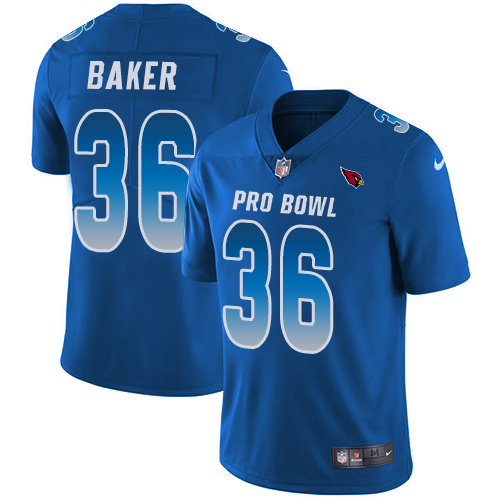 Nike Cardinals #36 Budda Baker Royal Men's Stitched NFL Limited NFC 2018 Pro Bowl Jersey