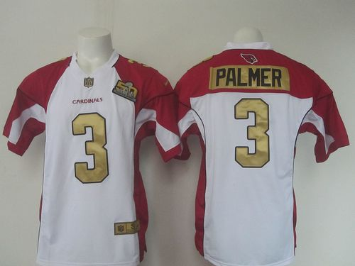 Nike Cardinals #3 Carson Palmer White Super Bowl 50 Collection Men's Stitched NFL Elite Jersey