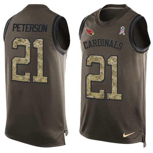 Nike Cardinals #21 Patrick Peterson Green Men's Stitched NFL Limited Salute To Service Tank Top Jersey
