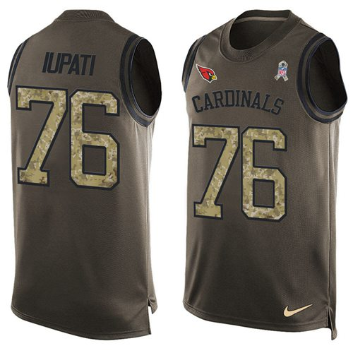 Nike Cardinals #76 Mike Iupati Green Men's Stitched NFL Limited Salute To Service Tank Top Jersey
