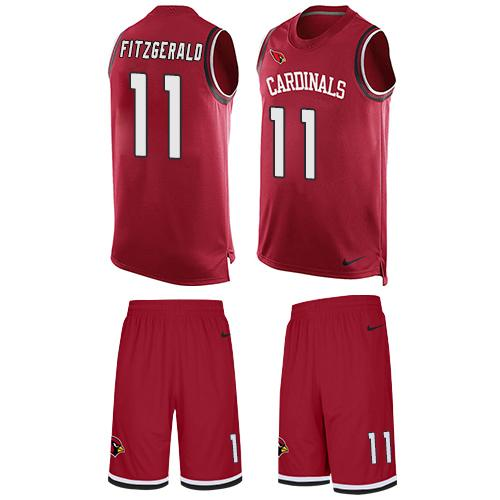 Nike Cardinals #11 Larry Fitzgerald Red Team Color Men's Stitched NFL Limited Tank Top Suit Jersey