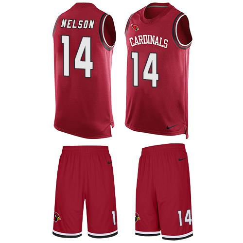 Nike Cardinals #14 J.J. Nelson Red Team Color Men's Stitched NFL Limited Tank Top Suit Jersey