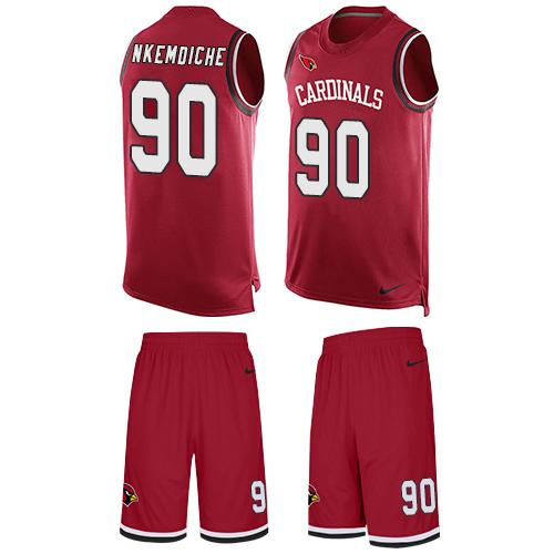 Nike Cardinals #90 Robert Nkemdiche Red Team Color Men's Stitched NFL Limited Tank Top Suit Jersey