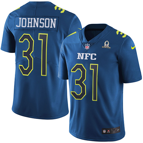 Nike Cardinals #31 David Johnson Navy Men's Stitched NFL Limited NFC Pro Bowl Jersey