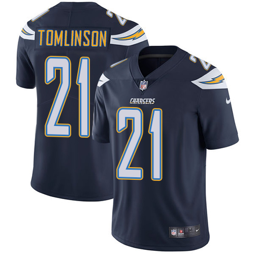 Nike Chargers #21 LaDainian Tomlinson Navy Blue Team Color Men's Stitched NFL Vapor Untouchable Limited Jersey
