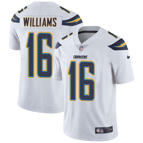 Nike Chargers #16 Tyrell Williams White Men's Stitched NFL Vapor Untouchable Limited Jersey