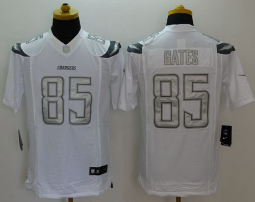 Nike Chargers #85 Antonio Gates White Men's Stitched NFL Limited Platinum Jersey
