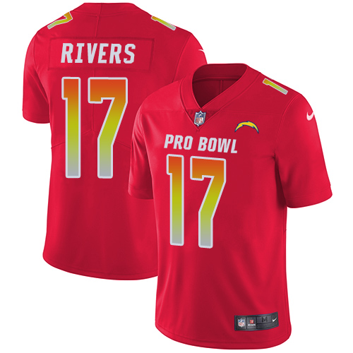 Nike Chargers #17 Philip Rivers Red Men's Stitched NFL Limited AFC 2018 Pro Bowl Jersey