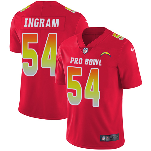 Nike Chargers #54 Melvin Ingram Red Men's Stitched NFL Limited AFC 2018 Pro Bowl Jersey