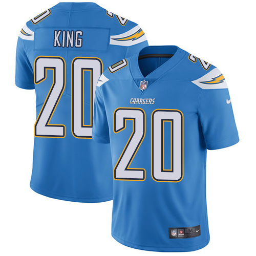 Nike Chargers #20 Desmond King Electric Blue Alternate Men's Stitched NFL Vapor Untouchable Limited Jersey