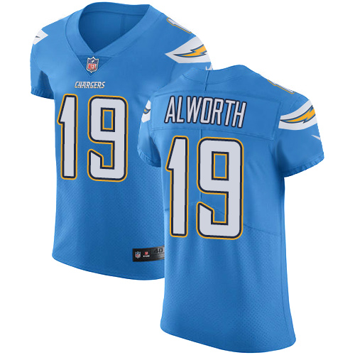 Nike Chargers #19 Lance Alworth Electric Blue Alternate Men's Stitched NFL Vapor Untouchable Elite Jersey