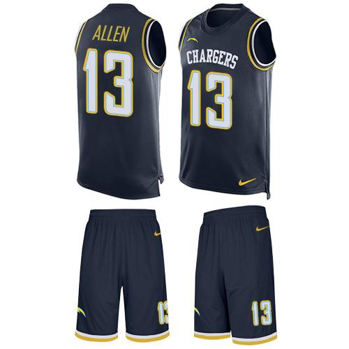 Nike Chargers #13 Keenan Allen Navy Blue Team Color Men's Stitched NFL Limited Tank Top Suit Jersey